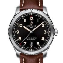 Breitling Aviator 8 Steel 41mm Black Arabic numerals