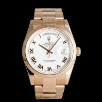 Rolex Or rouge Remontage automatique Blanc 36mm occasion Day-Date 36