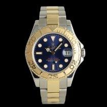 Rolex Yacht-Master Gold/Stahl 35mm Blau