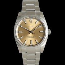 Rolex Oyster Perpetual 34 Steel 34mm Champagne