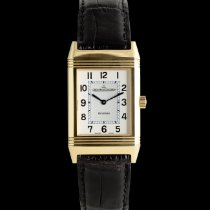 Jaeger-LeCoultre Yellow gold Manual winding Silver 38mm pre-owned Reverso Classique