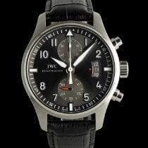 IWC Pilot Spitfire Chronograph Сталь 43mm Cерый