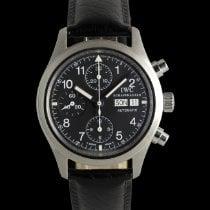 IWC Pilot Chronograph Сталь 39mm Чёрный