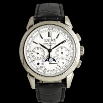 Patek Philippe Or blanc Remontage manuel Argent 41mm occasion Perpetual Calendar Chronograph