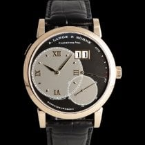 A. Lange & Söhne Red gold Manual winding Black 41mm pre-owned Grand Lange 1