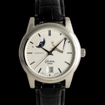 Glashütte Original Senator Power Reserve Display Aço 38mm Prata