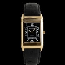 Jaeger-LeCoultre Red gold Manual winding Black 37mm pre-owned Reverso Classique