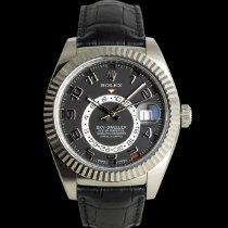 Rolex Or blanc Remontage automatique Noir 42mm occasion Sky-Dweller