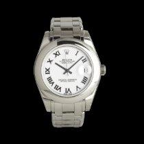 Rolex Lady-Datejust Pearlmaster Белое золото 34mm Белый