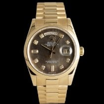 Rolex Red gold Automatic Mother of pearl 36mm pre-owned Day-Date 36