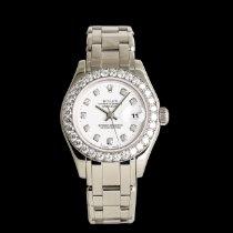 Rolex Lady-Datejust Pearlmaster Oro blanco 29mm Blanco