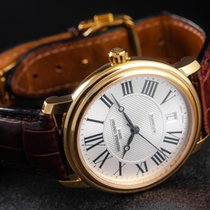 Frederique Constant Classics Automatic pre-owned 38mm Silver Date Leather