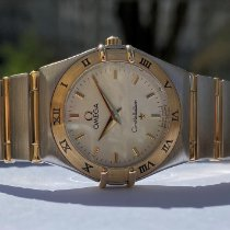 Omega Constellation Ladies Gold/Steel 25mm Champagne No numerals