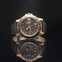 Rolex GMT-Master Yellow gold 47mm Brown No numerals