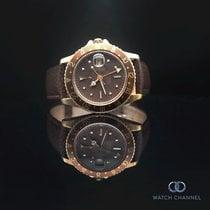 Rolex GMT-Master Or jaune 47mm Brun Sans chiffres