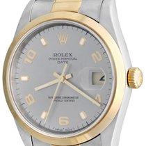 Rolex Oyster Perpetual Date Steel 34mm Silver Arabic numerals