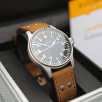 Stowa new Automatic Display back Central seconds Luminous numerals Luminous hands Tempered blue hands Only Original Parts 36mm Steel Sapphire crystal