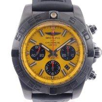Breitling Chronomat 44 Blacksteel Steel Yellow No numerals