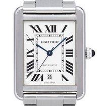 Cartier Tank Solo neu 2020 Automatik Uhr mit Original-Box und Original-Papieren W5200028