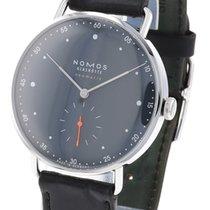 NOMOS Metro Neomatik pre-owned 38.5mm Blue Leather