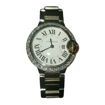 Cartier Ballon Bleu 33mm Gold/Steel 33mm Silver Roman numerals United States of America, New York, NEW YORK CITY