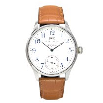 IWC Steel Manual winding White Arabic numerals 43mm pre-owned Portuguese Hand-Wound