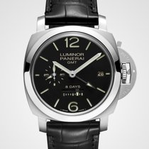 Panerai Luminor 1950 8 Days GMT Steel 44mm Black Arabic numerals United States of America, New Jersey, Oakhurst