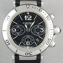 Cartier Pasha Seatimer Steel 42mm Black Arabic numerals