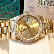 Rolex Day-Date 36 pre-owned Champagne Date Yellow gold