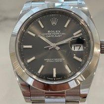 Rolex Datejust Steel 41mm Grey No numerals Australia