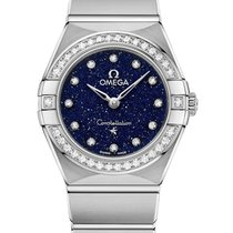 Omega Constellation Quartz Acier 25mm Bleu