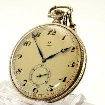 Omega Uhr gebraucht 1925 Gelbgold Handaufzug Nur Uhr