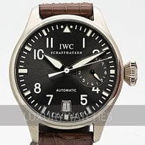 IWC White gold Automatic Grey 46mm pre-owned Big Pilot