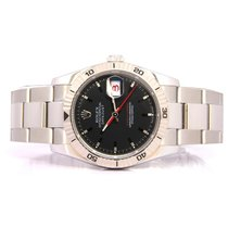 Rolex Datejust Turn-O-Graph Steel 40mm Black No numerals