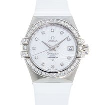 Omega White gold Automatic Mother of pearl 35mm pre-owned Constellation Ladies