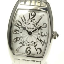 Franck Muller Cintrée Curvex Steel 25mm Silver Arabic numerals United States of America, New York, Greenvale