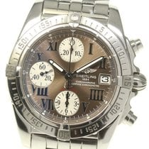 Breitling Chrono Cockpit Steel 39mm Brown Roman numerals United States of America, New York, Greenvale