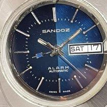 Blacksand 钢 39mm 自动上弦 Sandoz Ultra Rare Vintage Oversize 39mm Alarm Day Date Blue 二手