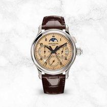 Patek Philippe Perpetual Calendar Chronograph Platinum 38.3mm Gold Arabic numerals