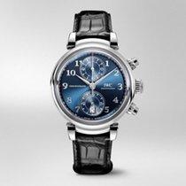 IWC Da Vinci Chronograph Ocel 42mm Modrá Arabské