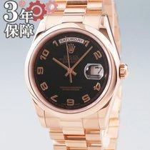 Rolex Day-Date 36 Rose gold 36mm Black