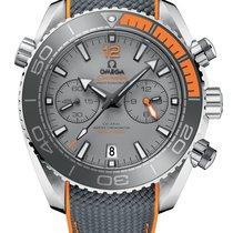 Omega Titane Remontage automatique Gris Sans chiffres 45.5mm nouveau Seamaster Planet Ocean Chronograph