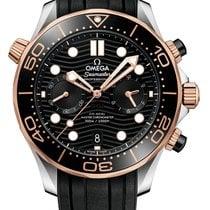 Omega Seamaster Diver 300 M Or/Acier 44mm Noir