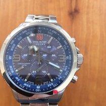 Swiss Military Çelik 43mm Quartz Swiss Military Arrow chrono 6-5250.04.003 yeni