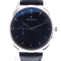 Zenith Elite Ultra Thin Acero 40mm Negro Sin cifras