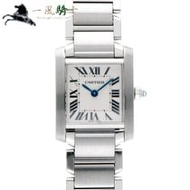 Cartier Tank Française pre-owned 25mm Silver Steel
