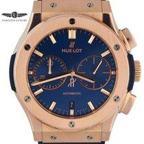 Hublot Classic Fusion Blue pre-owned 45mm Blue Chronograph Date Crocodile skin