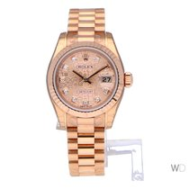 Rolex Lady-Datejust Or rose 26mm Rose Romains