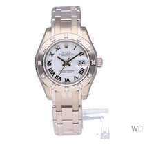 Rolex Lady-Datejust Pearlmaster Witgoud 29mm Wit Romeins Nederland, Amsterdam