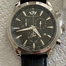 Philip Watch Blaze Steel 46.7mm Black No numerals
